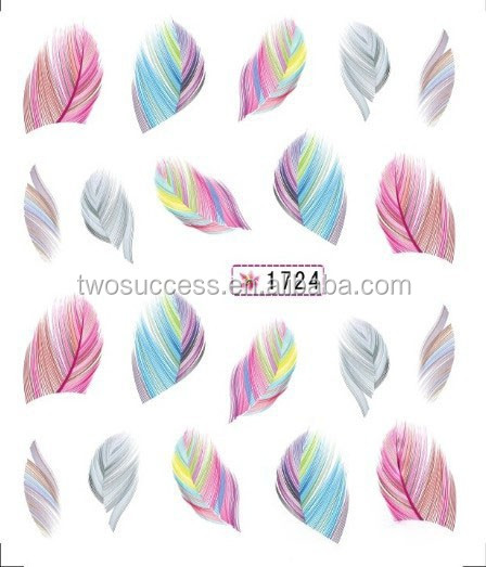 new feather nail sticker (6)