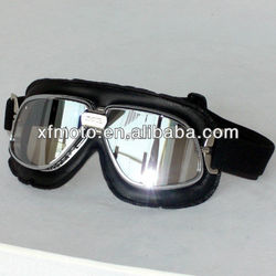 Aviator Pilot Cruiser Motorcycle Scooter Off-Road Goggle Eyewear Lens Silver