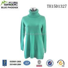 BLUE PHOENIX solid color 100% cashmere loose dress
