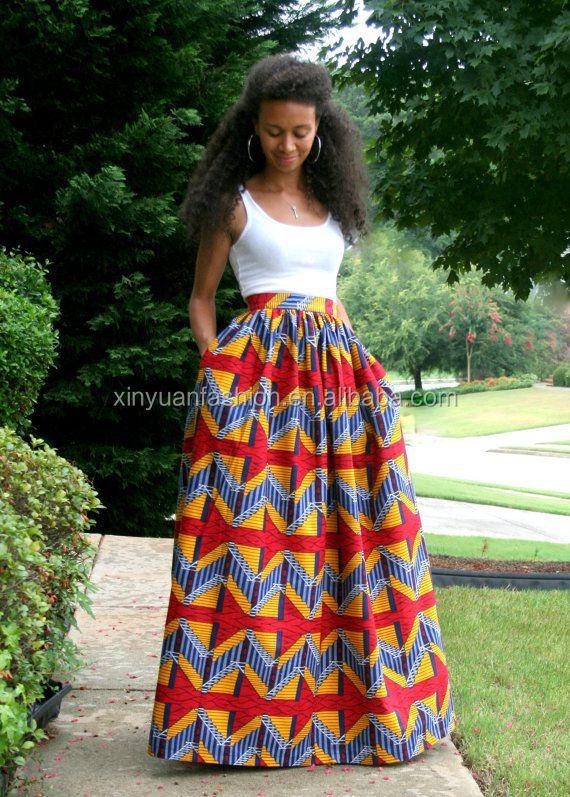 femmes africaines imprimer longue maxi jupe personnalis imprim africain jupes pour femmes. Black Bedroom Furniture Sets. Home Design Ideas