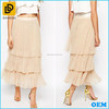 100% Polyester Fully Lined Pleated design Long Skirt Fashion Tulle Skirt