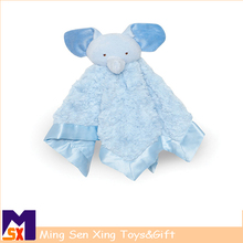 Baby blanket with plush animal/ baby soft toy blankets