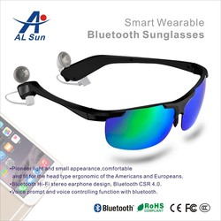 New design extreme sport sunglasses foldable bluetooth headphone