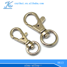 Yikai small snap hook for metal chain small metal key hooks