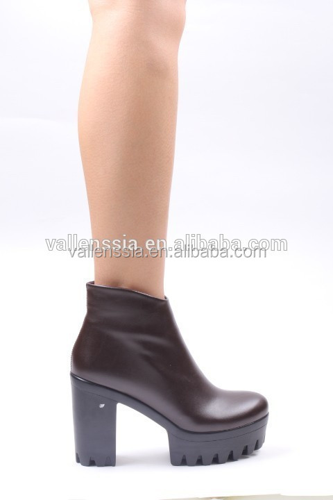 high heel closed toe platform brand name leather shoes