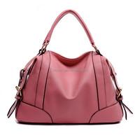 Pink pu leather beautiful ladies handbags fashion,woman famous brand handbags