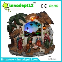 China supplies resin nativity set stand table decoration crafts wholesale