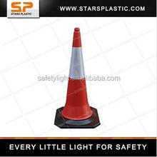 100cm PE orange traffic cone with rubber base