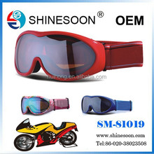 2015 new design spherical double lens motorcross goggles for Youth