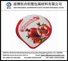Design personalizado folha de alumínio tampa para embalagens de laticínios
