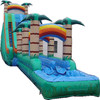 Coconut palm inflatable jungle slide n slip for water game