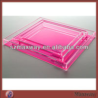 Colorful wholesale lucite serving tray