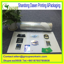 nice printing glossy Holographic film heat transfer paper for labels
