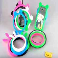 Wholesale - Lovely Bunny Rabbit Ears with Tail Silicone Skin Cover Case For iPhone 5/5S