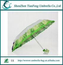fashioable custom 2 folding 8 K chinese cabbage umbrella