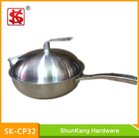 5ply 304 Stainless Steel wok/fry pan for Induction Cooker/Cooking Pan