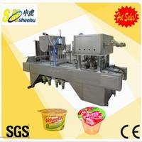 Liquid cottage cheese Gelatin dessert cup filling and sealing machine