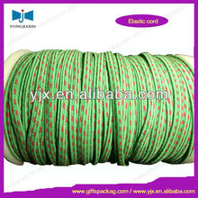 Green/red mixed colour flat polyestr rubber elastic cord