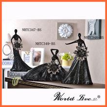 NHTC347 Weddingangels y Hadas de Cerámica Negra