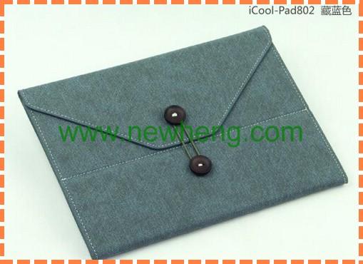 Snap type felt tablet sleeve/tablet bag for IPad mini/Air