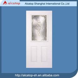 ALG-22 deocrative American steel door with glass insert