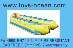 2015 new inflatable towable banana boat/flying fish toys/flying fish
