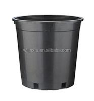 5 gallon round black plastic nursery pots