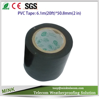Black 2 inch electrical insulating PVC tape for wireless base station