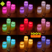Hot sale Color Changing Ivory remote scented shape candle