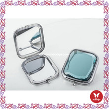 Winho high quality flowers mother of pearl compact mirror mini compact mirrors