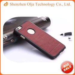 Luxury magnetic PU PC leather phone case for iPhone 4s