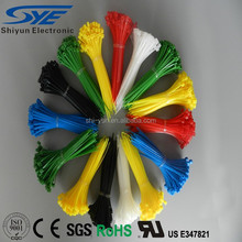 SY Brand Colorful Self-locking Nylon cable tie back to back 4inch 100x 2.5mm zip tie