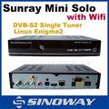 sunray mini wifi solo hd receptor de satélite enigma2 so linux sunray solo receptor