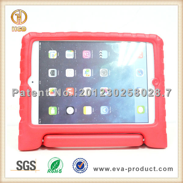 Shock absorbing EVA foam handle stand rotating case for ipad mini 2