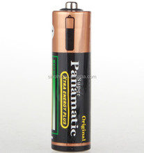 Panamatic shrink wrap R6 SIZE AA UM3 1.5V Battery (black)for torch light
