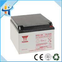 Solar battery yuasa 12v 24ah storage lead acid battery/batteries (NP24-12)
