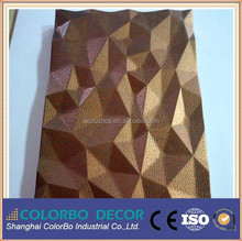 3d wall panel Bedroom Texture Paint Board For Wall Decoration of MDF