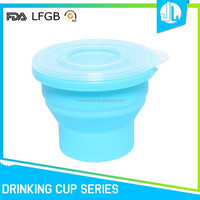 New design cheap folding silicone adult cups with lids
