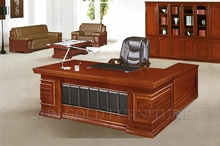 Wholesale Modern Lacquer Wood Manager Desk with Vice Cabinet (SZ-OD537)