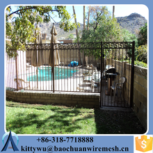 Factory Direct Sales picket Iron fence gate/Aluminum steel fence gate/garden fence gate/Security pool fence