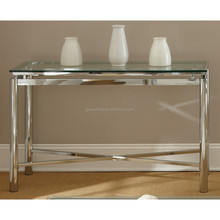 Attractive simple top glass mirror metal leg living room/lobby mirrored sofa/coffe/console/side/phone table