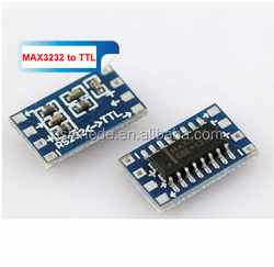 mini RS232 MAX3232 to TTL Level Pinboard Converter Board