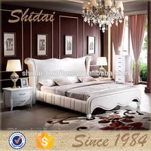 Queen size tamaño, cama king size, madera moderna cama B9025