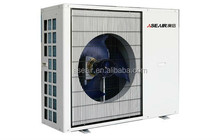 For house heating and cooling, heat pumps air/water source system
