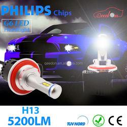 Qeedon after market h1 led headlight 4500lm 9-36v 45W car round dot