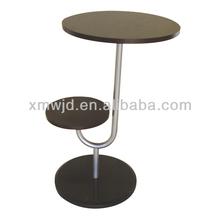 moderno de madera doble capas de lado de la mesa con base de mármol