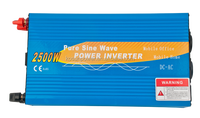 12v solar inverter 2500W PURE SINE WAVE POWER INVERTER with 5000w surge power