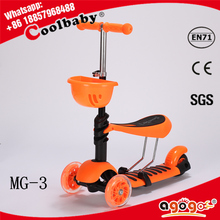 HOT new Non welding T-bar folding trike scooter for sale
