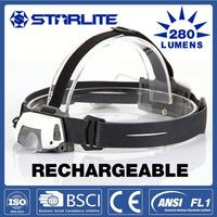 STARLITE Rechargeable 280 lumens outdoor survival whistle hunting led head light
