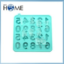 Novelty FDA Approval Silicone Number Ice Cube Tray Cake Mold